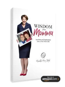 """Wisdom from Momma"" book cover"